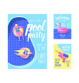 pool party poster banner invitation summer vector image