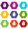 quatro packag icons set 9 vector image vector image