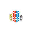 real estate building logo design concept vector image