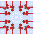 red christmas balls background vector image