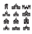 School building icon vector image