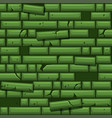 seamless texture placing green old stone wall vector image vector image