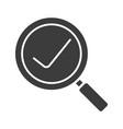search glyph icon vector image vector image