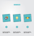set of idea icons flat style symbols with vector image vector image