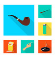 smoke and statistics logo vector image