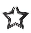 star patriot symbol grunge shape vector image