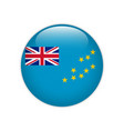 tuvalu flag on button vector image