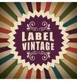Vintage and retro label design vector image vector image