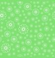 white flower seamless pattern over green vector image vector image