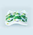 winter forest christmas icon vector image vector image