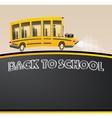 School Bus Racing Bus in Cartoon Style vector image