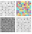 100 bank icons set variant vector image vector image
