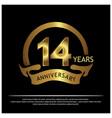 14 years anniversary golden anniversary template