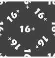 Age restriction 16 pattern vector image vector image