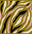 background with colorful zebra skin pattern vector image vector image
