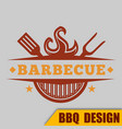 bbq barbecue logo hot image vector image vector image