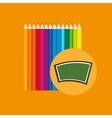 blackboard school icon set colors vector image vector image