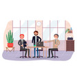business partners invite to business meeting in vector image vector image