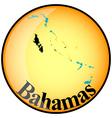 button Bahamas vector image vector image