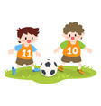 children little boys playing soccer football vector image vector image