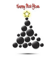 christmas tree from hockey puck vector image