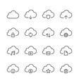 cloud and network icons set vector image vector image