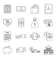 Credit icons set outline style vector image vector image