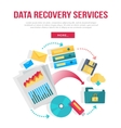 Data Recovery Services Banner vector image vector image