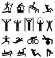 Exercise and fitness vector image