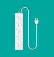 extension lead on isolated green background flat vector image
