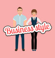 fashion elegant couple in business clothing vector image vector image