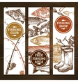 Fishing Vertical Banners Set vector image vector image