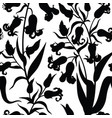 floral seamless pattern flower lily silhouette vector image vector image