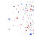 flying red blue white star sparkles vector image