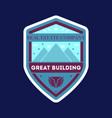 great building elegant label vector image