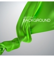 Green silk fabric vector image