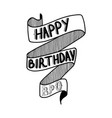 happy birthday bro vector image vector image