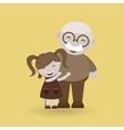 happy grandparents design vector image vector image