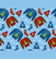 holiday christmas seamless pattern winter clothes vector image vector image
