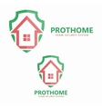 House on the shield logo vector image