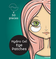 hydro gel eye patches ads vector image vector image