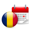 Icon of national day in chad vector image