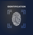 identification fingerprint scanning logo modern vector image