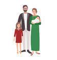 large european or caucasian family father mother vector image vector image