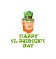 Leprechaun St Patricks Day Low Polygon vector image vector image