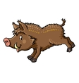 Lttle funny boar or wild pig vector image vector image