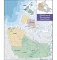Map of Northwest Territories vector image vector image