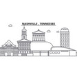 nashville tennessee architecture line skyline vector image vector image