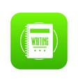 notebook icon green vector image vector image