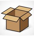 open box design icon vector image
